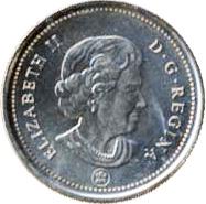 Canada 2006 25 Cents – Elizabeth II Coin Obverse