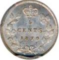 Canada 1870 5 Cents – Victoria Coin Reverse