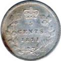 Canada 1871 5 Cents – Victoria Coin Reverse