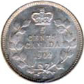 Canada 1902 5 Cents – Edward VII Coin Reverse