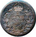 Canada 1906 5 Cents – Edward VII Coin Reverse