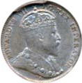 Canada 1909 5 Cents – Edward VII Coin Obverse
