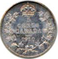Canada 1910 5 Cents – Edward VII Coin Reverse