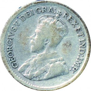Canada 1921 5 Cents – George V Coin Obverse