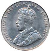 Canada 1922 5 Cents – George V Coin Obverse
