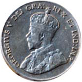 Canada 1925 5 Cents – George V Coin Obverse
