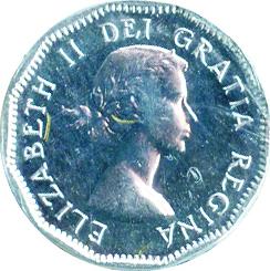 Canada 1953 5 Cents – Elizabeth II Coin Obverse