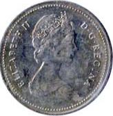 Canada 1985 5 Cents – Elizabeth II Coin Obverse