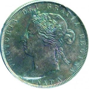 Canada 1881 50 Cents – Victoria Coin Obverse