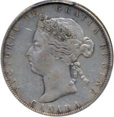 Canada 1900 50 Cents – Victoria Coin Obverse