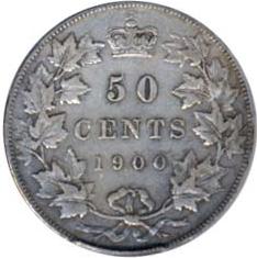 Canada 1900 50 Cents – Victoria Coin Reverse
