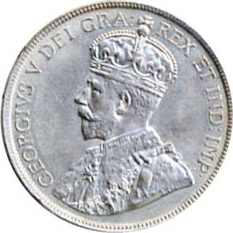 Canada 1919 50 Cents – George V Coin Obverse