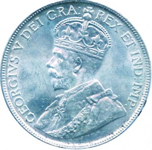 Canada 1920 50 Cents – George V Coin Obverse