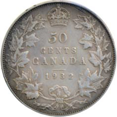 Canada 1932 50 Cents – George V Coin Reverse