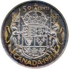 Canada 1953 50 Cents – Elizabeth II Coin Reverse