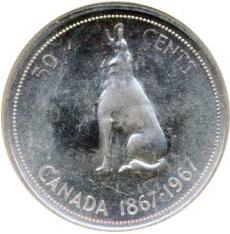 Canada 1967 50 Cents – Elizabeth II Coin Reverse