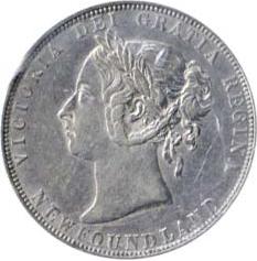Newfoundland 1899 50 Cents – Victoria Coin Obverse