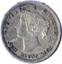 New Brunswick 1864 5 Cents – Victoria Coin Obverse