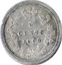 New Brunswick 1864 5 Cents – Victoria Coin Reverse