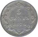 Newfoundland 1876 5 Cents – Victoria Coin Reverse