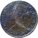 New Brunswick 1861 0.5 Cent – Victoria Coin Obverse