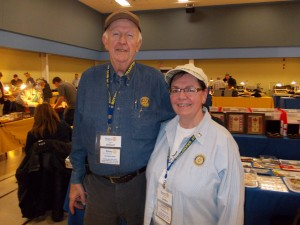 Sandra and Willard Burton, along with several volunteers from Brampton Rotary Club, will be at Sunday's expanded Coin, Stamp and Trading Card Show.