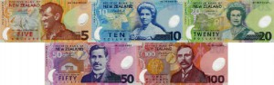 Above are images of the Bank of New Zealand's current banknotes.