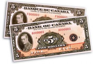The $500 banknote was a carry-over from preceding Dominion of Canada notes. The 1935 Series is the only Bank of Canada series to include this denomination.