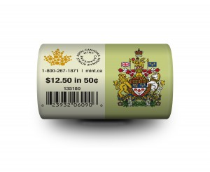 The 2015 50-cent circulation coin roll in a special wrap. Previous issues have sold out.