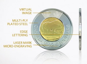 The Mint also updated its $2 circulation coin with similar security features.