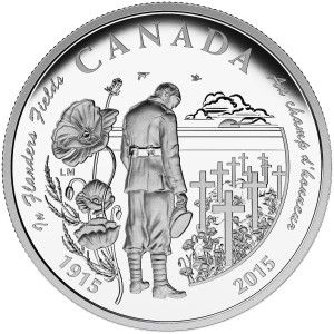 The 2015 $20 Fine Silver Coin  marking the 100th Anniversary of In Flanders Fields, released today.