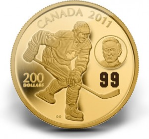The Mint also featured Gretzky alongside his father, Walter, on this gold coin.