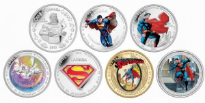 In 2013, the Mint struck these seven coins as part of its Superman series.