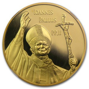 In 2005, the Mint struck this gold coin commemorating the former pope.