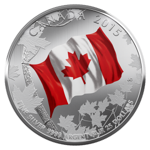 The Mint issued a number of other coins, including this $25 Fine silver coin, to commemorate the national flag's recent milestone.