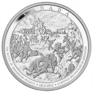 The Battle of Queenston Heights, where Brock was killed, was also commemorated on this Fine silver one-kilo coin.