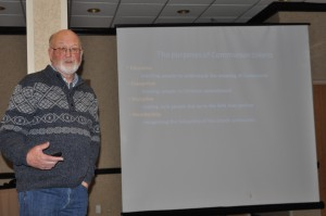 Rev. Angus Sutherland, a retired Presbyterian minister, gave an interesting presentation on Communion Tokens: the history and use of.