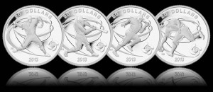 The Mint also struck these four silver coins as part of its World Baseball Classic series.