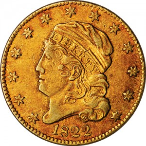 This rare 1822 U.S. Half Eagle coin was also unsold despite a big of $9.53 million.