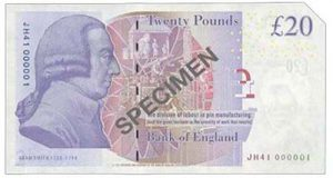 Lot 126 was this £20 note with a serial number 'JH41 000001'. It realized £5,200.
