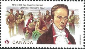 The 2012 stamp (Scott 2539) shows the various people who lived in the settlement during the 1800s.