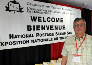 John Sheffield, a director with the Canadian Stamp Dealers' Association (CSDA) and member of the Middlesex Stamp Club, hosts of this year's Royale.