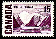 Canada Post issued this 15-cent stamp commemorating Harris' painting in 1969.