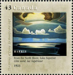 Another Harris painting was commemorated on this 43-cent stamp issued by Canada Post in 1995.