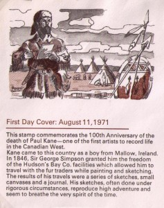 The official first-day cover was cancelled in Ottawa, Ont.