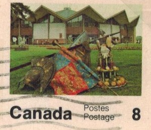 Canada Post featured the upgraded Festival Theatre on this 8-cent postcard in 1972.