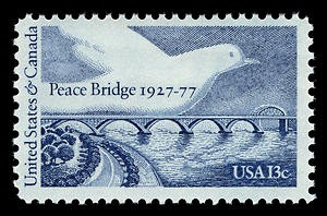 The USPS used an entirely different design for its stamp – an unusual occurrence for joint issues.