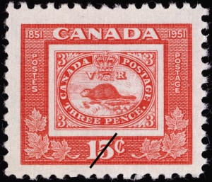 The 15-cent denomination (SC #314) was the first 15-cent stamp to be issued by Canada since 1908.