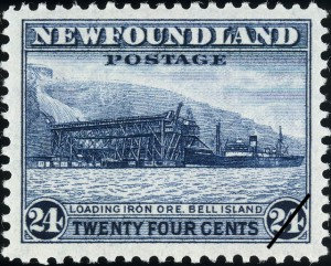 The Bell Island design was resued for the final time in 1943 as part of the Waterlow Printings Definitive Re-Issues.