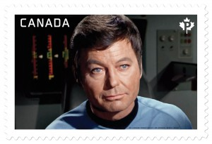 This stamp featuring Dr. Leonard McCoy was unveiled today at the Canadian Medical Hall of Fame in London, Ont.